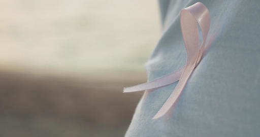 International symbol of breast cancer awareness Footage