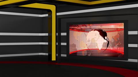 News TV Studio Set 160 - Virtual Background Loop Live Action