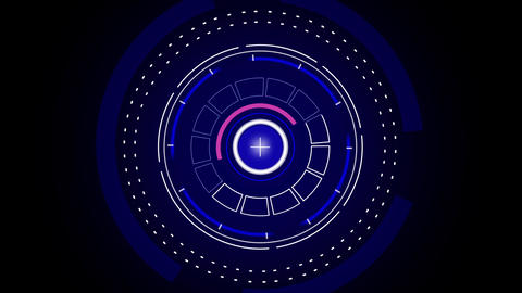 Sci fi hi-tech dark blue style user interface design element HUD After Effects Template