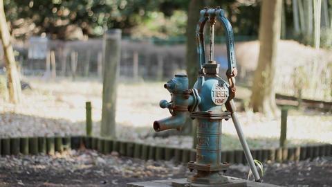 手押しポンプ 昭和のポンプ 公園 東京 世田谷区 Footage