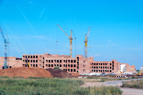 Construction of a new residential complex フォト