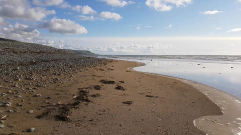 Waves, Sea shore, Fairbourne, Wales #2 Footage