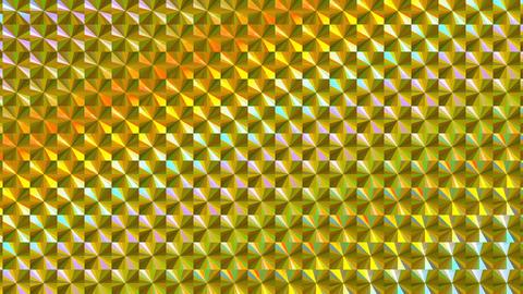 ホログラムシートのテクスチャ(ループ可能)-チェック/等速/ゴールド CG動画