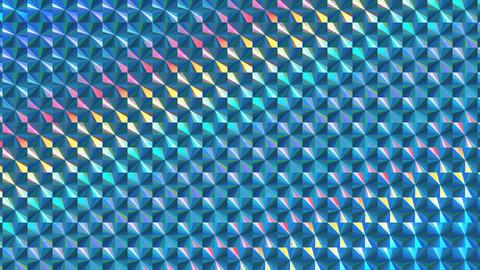 ホログラムシートのテクスチャ(ループ可能)-チェック/等速/ブルー CG動画