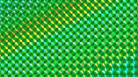 ホログラムシートのテクスチャ(ループ可能)-チェック/等速/グリーン CG動画