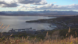 Autumn view of Seaport of Petropavlovsk-Kamchatsky City GIF