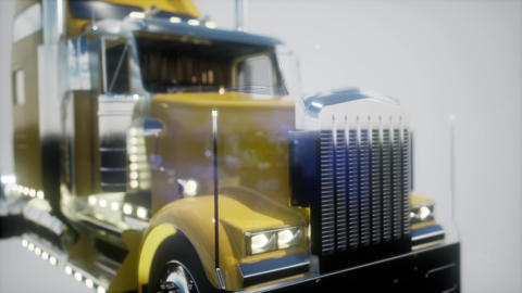 bright american lorry track in studio Footage