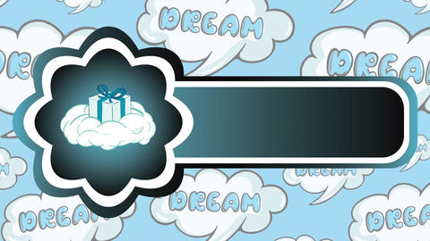 Icon gift on cloud and dreams Animation