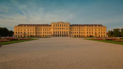 Schonbrunn Palace, Vienna, Austria Footage