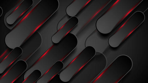 Black and glowing red shapes motion background Animation