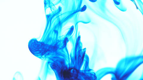 Blue Ink Drop In Water 0
