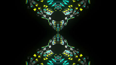 Colorful Particles Shining Geometrical Parts Displace Motion Shining VJ Loop Footage