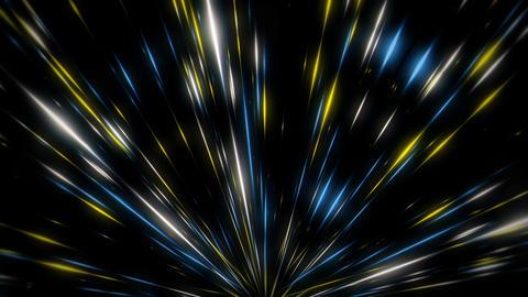 Sparkling Light Leaks Yellow Blue Shining Silver Sparkles Firework VJ Loop Live Action