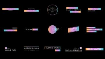 Modern Gradient Titles After Effects Template