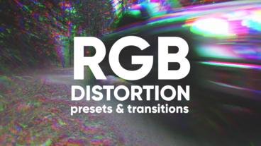 RGB Distortion Presets And Transitions Premiere Proテンプレート
