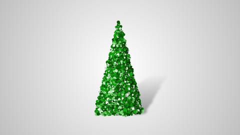 Christmas tree from slow moving particulars Footage