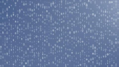 Digi0011 - 4k Detailed Blue Digital Video Background Loop Animation