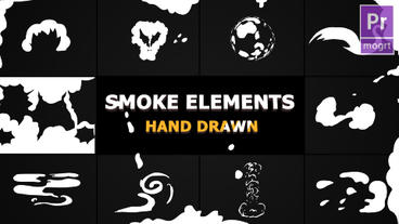 Cartoon SMOKE Elements And Transitions Motion Graphics Template