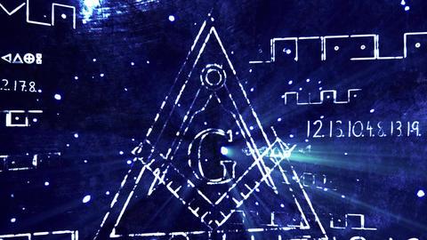 4K The Free Masonic Grand Lodge Sign v1 1 Animation