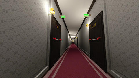 Elegant Hotel Corridor Cinematic Dolly 3D Animation 2 Animation