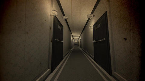 Elegant Hotel Corridor Cinematic Dolly Vintage 3D Animation 2 Animation