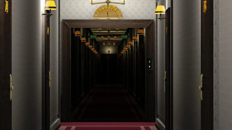 Elegant Hotel Corridor Cinematic Vertigo Effect 3D Animation 4 Animation