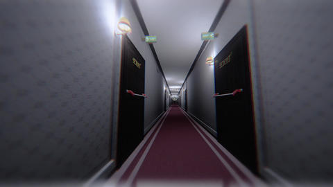 Scary Elegant Hotel Corridor Cinematic Dolly 3D Animation 2 Animation