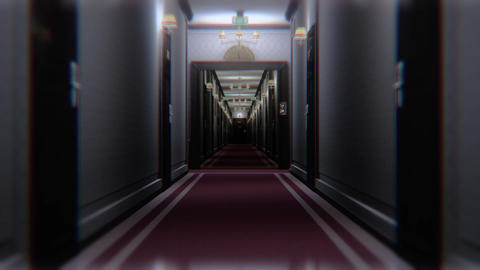 Scary Elegant Hotel Corridor Cinematic Vertigo Effect 3D Animation 1 Animation