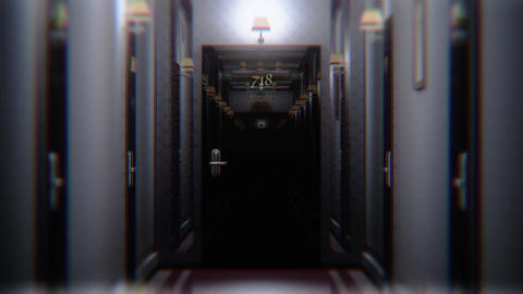Scary Elegant Hotel Corridor Cinematic Vertigo Effect 3D Animation 3 Animation