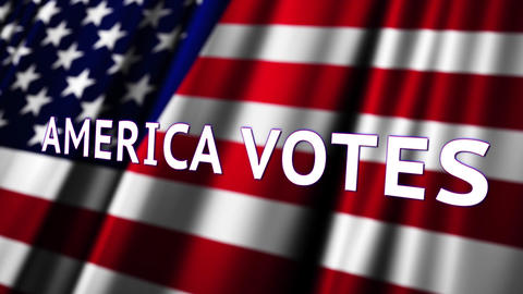 4K America Votes Presidential Election Insert 3 Animation