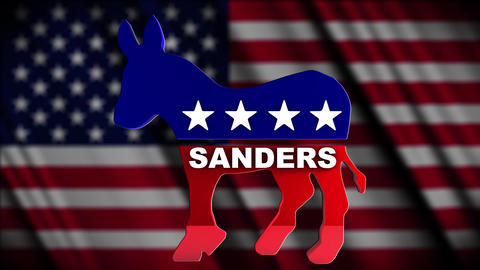 4K USA 2016 Election Democratic Candidate Sanders Animation