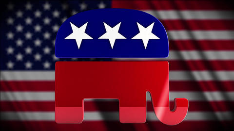 4K USA Election Republican Party Campaign Element Stock Video Footage