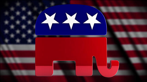 4K USA Election Republican Party Campaign Element Animation