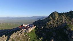 Aerial view of beautiful Treskavec monastery Footage