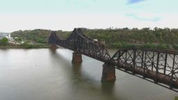 Industrial Railroad Bridge in Western Pennsylvania Footage