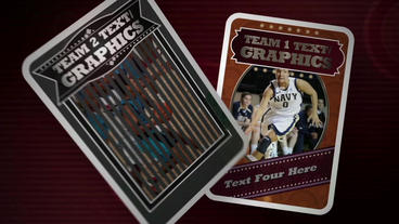 Sports Trading Cards After Effects Project