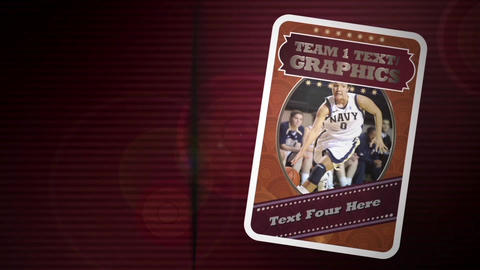 Sports Trading Cards After Effects Template