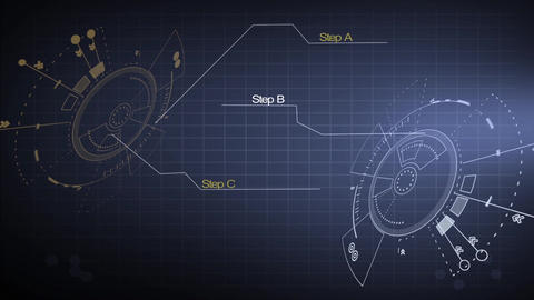 Sci fi hi-tech graphical user interface design element HUD After Effects Template