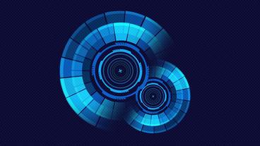 Sci Fi Rotating Circles User Interface Design Element Hud