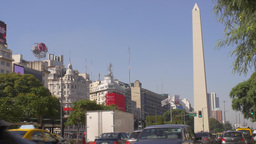Buenos Aires Obelisk in downtown Footage