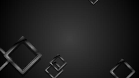 Black Abstract Glossy Squares Video Animation stock footage