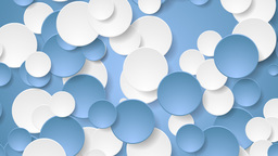 Abstract corporate blue white circles video animation Animation
