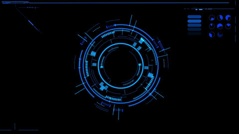 Sci fi different style rotating circle user interface design element HUD After Effectsテンプレート