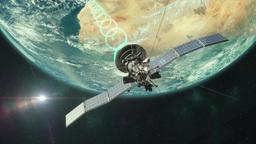 Satellite Transmitting Animation