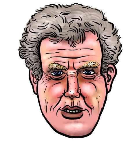 Jeremy Clarkson Floating Head stock footage