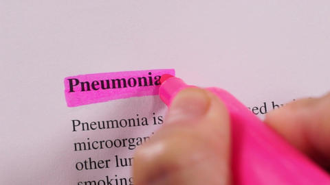 Medical Condition Highlighting Pneumonia Live Action