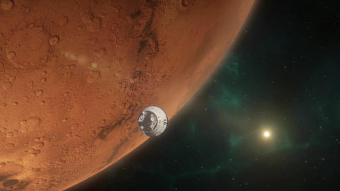 Lander Approaching Mars Animation