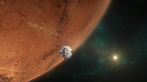 Lander Approaching Mars Animation