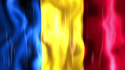 Romania Flag stock footage