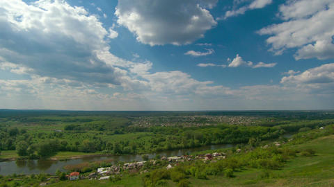 Timelapse of village in Eastern Ukraine Footage
